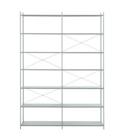 ferm LIVING Punctual Shelving System -Dusty Blue-2x7