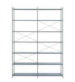 ferm LIVING Punctual Shelving System -Dark Blue-2x7