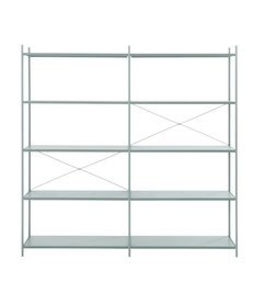 ferm LIVING Punctual Shelving System -Dusty Blue-2x5