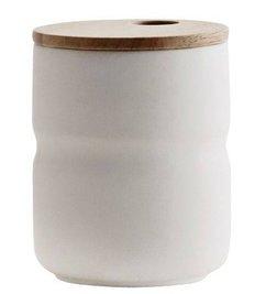 Madam Stoltz Mug with wooden lid white