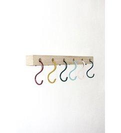 E|L by DEENS.NL Keesje multicolor coat rack hooks