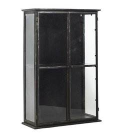 Nordal DOWNTOWN iron wall cabinet, black