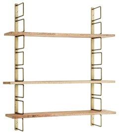 Madam Stoltz Wandrek antiek brass met houten planken