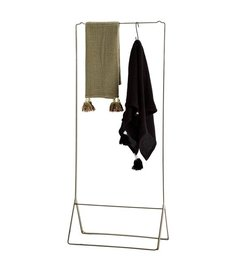 Madam Stoltz Clothes rack antique brass