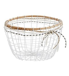 Madam Stoltz Basket w/ wood and ribbons