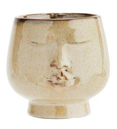 Madam Stoltz Flowerpot w/ face imprint D:14,5 x14 cm