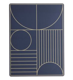 ferm LIVING dinner mat Outline - Darkblue