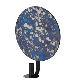 ferm LIVING Mirror with candle holder Coupled - Blue