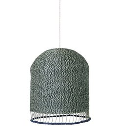 ferm LIVING Lampenkap Braided - dustygreen