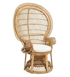 Nordal Large chair rattan with pad