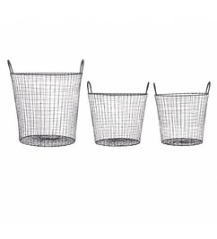 House Doctor Basket WIRE - Black