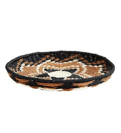 Madam Stoltz Paper wicker tray Naturel - coffee - black