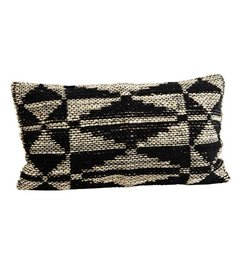 Madam Stoltz Cushion cover black - natural