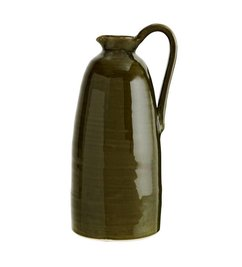 Madam Stoltz Ceramic jug green