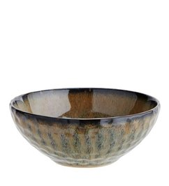 Madam Stoltz Ceramic bowl yellow-brown-blue