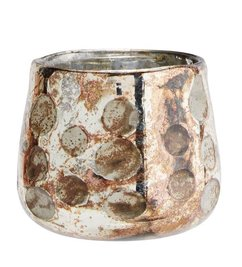 Madam Stoltz Votive w/ dots copper