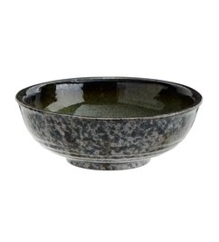 Madam Stoltz Stoneware bowl green-grey