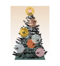 E L by DEENS.NL Christmas print on canvas