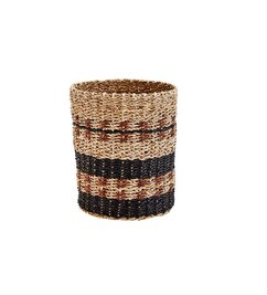 Madam Stoltz Wicker basket black/coffee