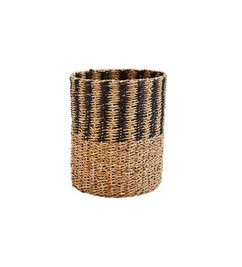 Madam Stoltz Wicker basket black/natural