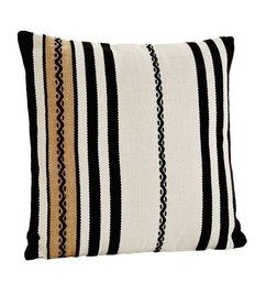 Madam Stoltz Chenille cushion with stripes