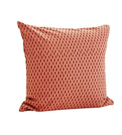 Madam Stoltz Cushion rose/paprika pattern