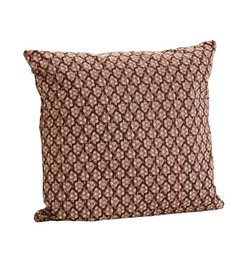 Madam Stoltz Cushion hazelnut/nude pattern