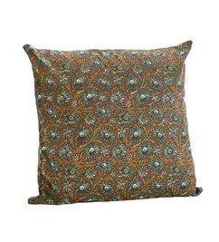Madam Stoltz Cushion with green pattern
