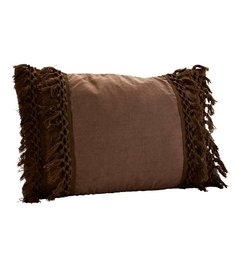 Madam Stoltz Cushion charcoal with tassels