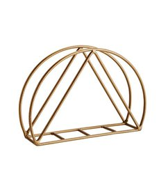 Madam Stoltz Napkin holder brass