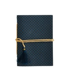 Madam Stoltz Notebook blue-black pattern