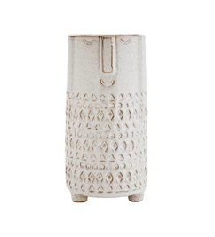 Madam Stoltz Vase with face - off white