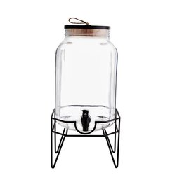 Madam Stoltz Limonade dispenser with stand