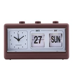 Monograph Alarm clock RETRO bordeaux - brown