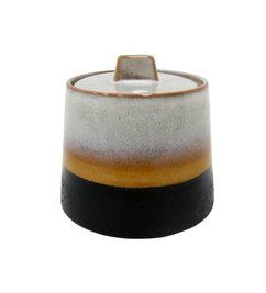 HK living  Ceramic sugar bowl retro 70's