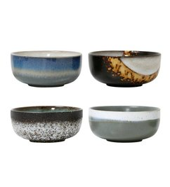 HK living  Ceramic bowls 70's style (medium) - set of 4