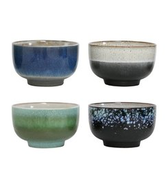 HK living  Ceramic bowls 70's style (large) - set of 4