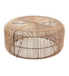 HK living  Coffee table rattan - natural
