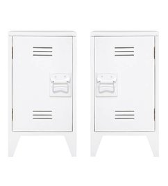 HK living  Nachtkastjes locker (set van 2) - wit