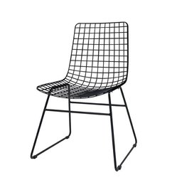 HK living  Metal wire chair - black