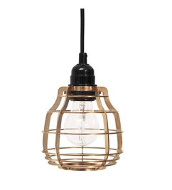 HK living  Lamp Lab (with plug) - brass