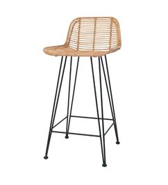 HK living  Bar stool rattan - natural