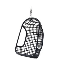 HK living  Hammock chair rattan - black