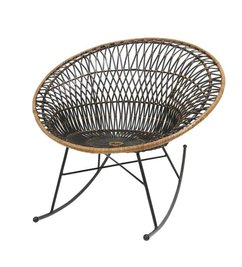 HK living  Rocking chair rattan