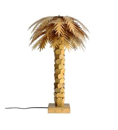 HK living  Table lamp palm tree - brass