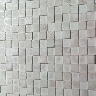 Houten wandpaneel Design QUADRINO Kleur: Whitewash