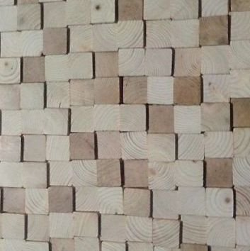Houten wandpaneel Design QUADRINO Kleur: Natural Mix