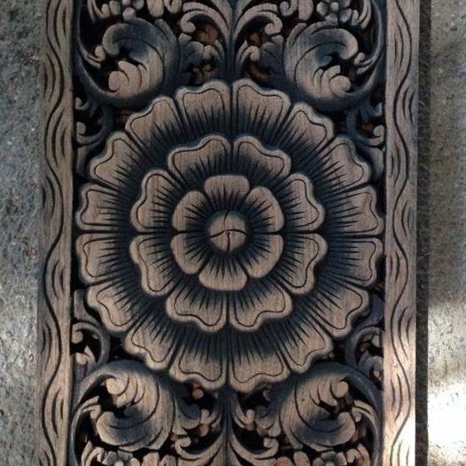 Geschnitzte Wandpanele aus Holz Design LOTO LUNGO, verschiedene Abmessungen und Farben