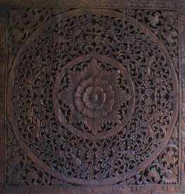 Hand carved wall panel LOTO dark brown