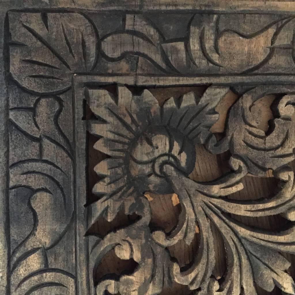 Houtsnijwerk wandpaneel Design LOTO: Antiek Zwart, verschillende afmetingen